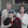 Inaugural recipient James Walsh along with his parents John and Maura Walsh