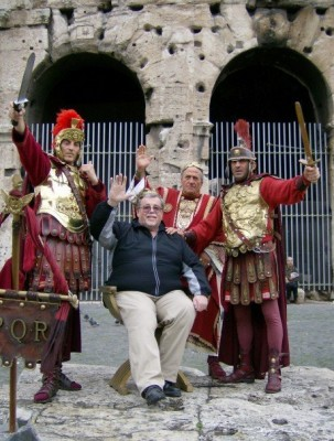Posted on Facebook, this photo shows Mr. Wrenn on a trip to Italy with the Algonquin Jazz Band and Select Chorus in 2007.