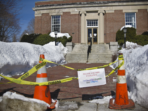 Post image for Library's walkway to be repaired (Updated)