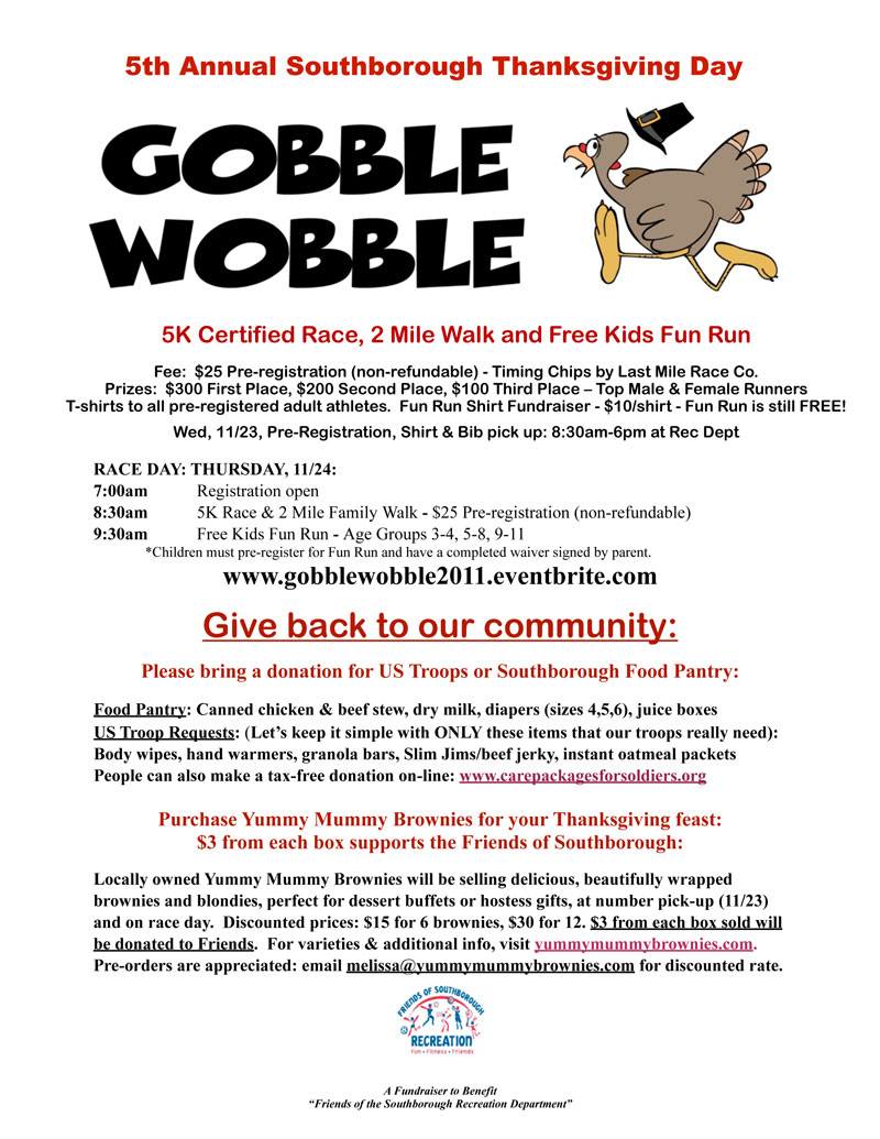 Still time to sign up for the Gobble Wobble next week