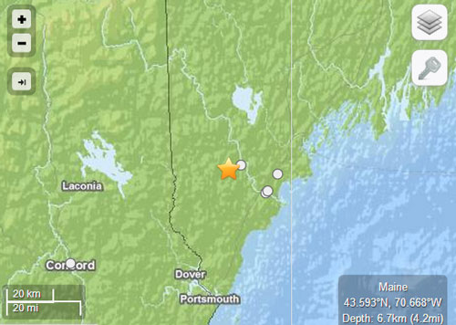 Post image for Earthquake centered in southern Maine rattles Southborough