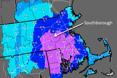 Post image for How much snow will we get, Southborough?