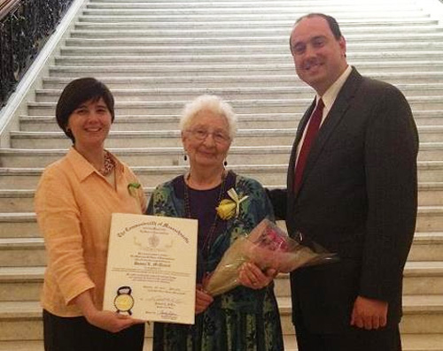 Post image for Donna McDaniel honored as an 'unsung heroine' at State House ceremony