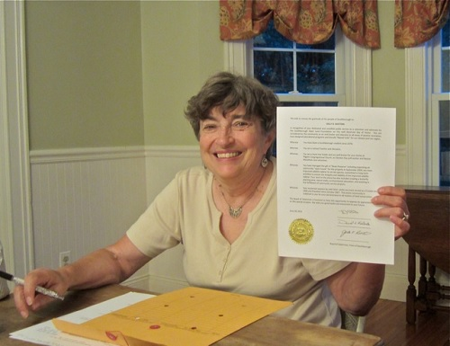 Post image for Selectmen honor SOLF president Sally Watters with Day of Honor