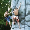 The rock climbing tower is popular with big kids (by Susan Fitzgerald)