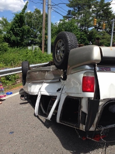 Post image for SWL: Rollover on Rte 9 by White Bagley, 4 injured