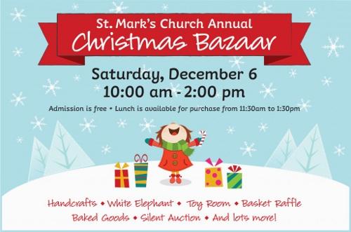 Post image for St. Mark's Church's annual Christmas Bazaar – December 6