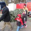 SFA Christmas Tree sale (photo by Beth Melo)