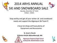 ARHS ski and snowboard sale