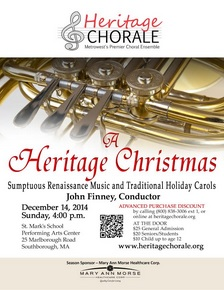 Heritage Chorale flyer