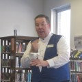 Magician Fran Flynn with his magical dove at Southborough Library