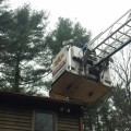 Roof rescue (Photo from Southborough Fire Department's Facebook page)