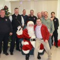 Santa visit to SFD & families (Photo from Southborough Fire Department's Facebook page)