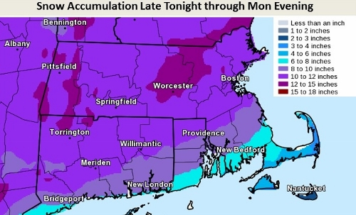 Post image for More fun with snow: 10-15″ expected Monday; heavy snowfall during morning commute