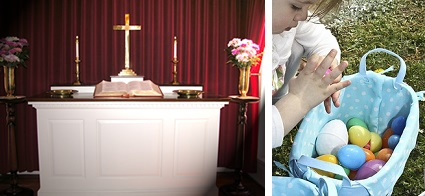 Post image for Holy Week at town churches: From Egg Hunts to Maundy Suppers