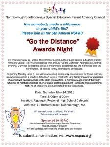 NSPAC Go the Distance Award Night flyer