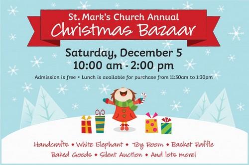 Post image for St. Mark's Church's annual Christmas Bazaar – December 5