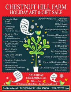 Chestnut Hill Farm Holiday Art & Gift Sale flyer