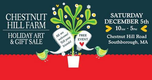 Post image for Annual Chestnut Hill Farm Holiday Art & Gift Sale – Saturday