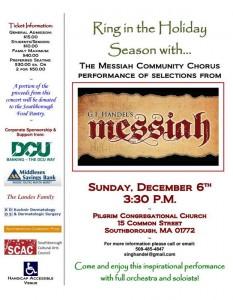 Handle's Messiah Concert flyer