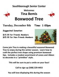 Boxwood Tree flyer
