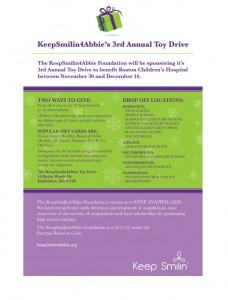 KeepSmilin4Abbie 3rd annual toy drive