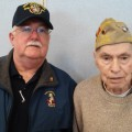 (contributed photo L to R): Steve Whynot, Navy - Retired, Navy Achievement Medal recipient and Earle Watkins, Army, Bronze Star & Purple Heart recipient.