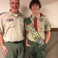Eagle Scout Mark Dyer with Scoutmaster Michael Garand, Troop 92 (contributed photo)