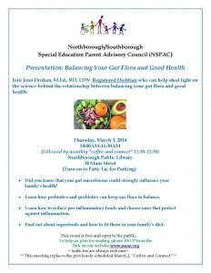 Gut Flora and Good Health flyer