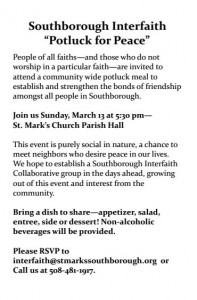 potluck for peace flyer