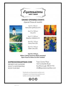 Expressions Art Bar Grand Opening Events
