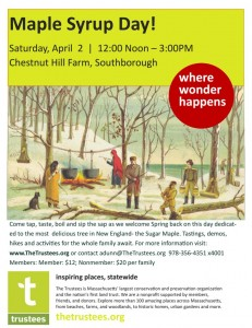 maple syrup day flyer