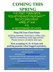 Green Team Foam Recycling Flyer