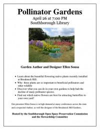 Pollinator Gardens event flyer