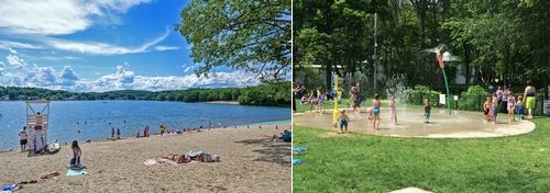 Post image for Local watering holes: Splash pads and local beaches open for play