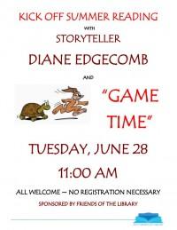 storyteller game time flyer
