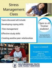 Trottier after school Stress Management Class