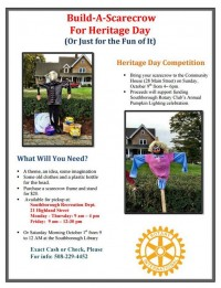 Rotary Club Build-A-Scarecrow event