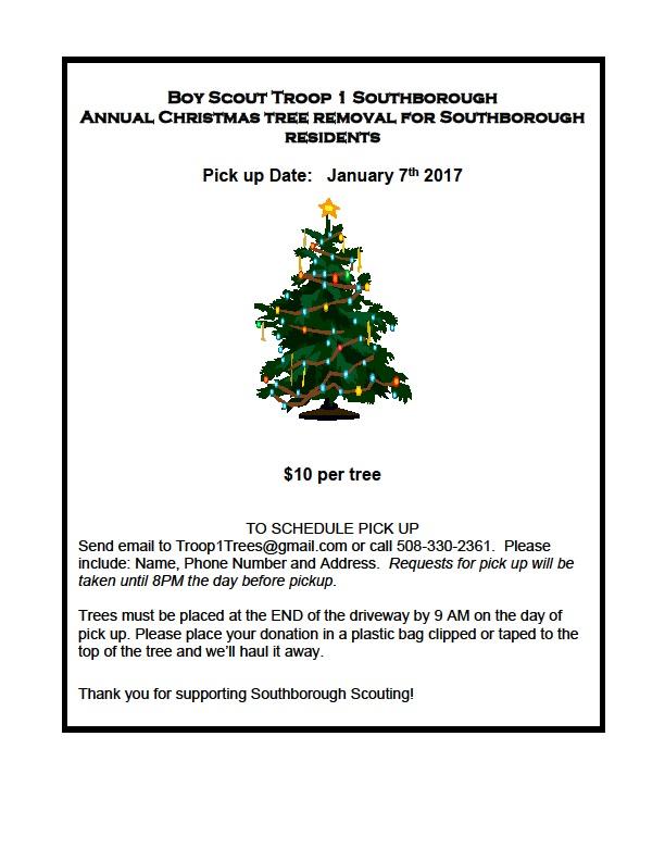 Reminder: Christmas Tree pickup – January 7th