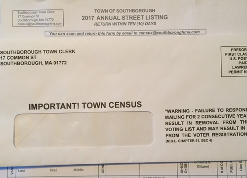 """Post image for Don't forget to return the annual """"Street Listing"""" form (a.k.a. Town census)"""