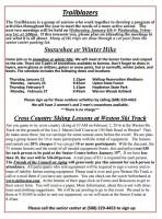 Trailblazers flyer for Jan-Feb '17