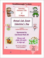 Cub Scouts' senior valentines day lunch flyer