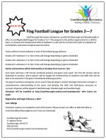 co-ed flag football league flyer