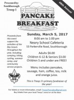Troop 1 Pancake Breakfast flyer