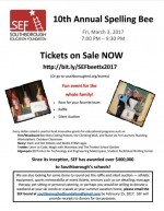 SEF 10th annual spelling bee flyer