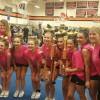 Assabet Cheer team (L-R): Head Coach, Skyy Pakus, Sammy Downing, Aryanna Welch, Rachel Blasko, Emily Sidoti, Lauren Conroy, Lauren Inderwish, and Asst. Coach - Kailee McDavitt (contributed photo)