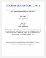 Southborough Rec announcement