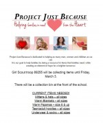 project just because flyer