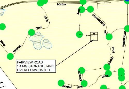 Post image for Public Works meeting on potential water tank at Fairview Hill – Monday night