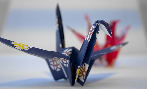 "Post image for Origami at Library – tomorrow ""Crafternoon"""